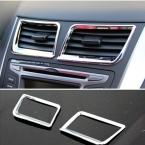 Автомобильные Аксессуары центральное кондиционирование выходе крышка ABS хром пластины Для Hyundai Solaris accent седан хэтчбек 2011-