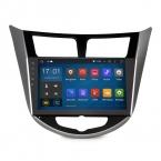 """2 din 9 """" четырехъядерный процессор android-автомобильный GPS навигация для Hyundai Solaris I25 верна 1024 * 600 Resoluctions 16 ГБ емкостный сенсорный экран"""