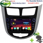 5.1.1 Quad Core 1024X600 Android 2 Din Автомобильный Dvd-плеер Для Hyundai Accent Verna i25 Solaris С GPS TV 3 Г Wi-Fi Бесплатно карта