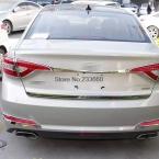 Для Hyundai Sonata  ABS назад задняя крышка багажника отделка хвост протектор задняя крышка багажника украшения 1 шт. стайлинга автомобилей