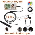 5.5 мм объектив android-otg USB камеры эндоскопа 5 м 3.5 м 2 м 1 м смарт-android телефонов USB бороскоп инспекции змея пробки камера 6LED