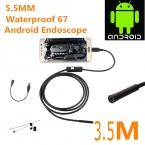 Эндоскопа бороскоп USB Android инспекции камеры HD 6 из светодиодов 5.5 мм объектив 720 P водонепроницаемый автомобиля Endoscopio трубка мини-камера 3.5 м