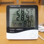 Цифровой жк-термометр гигрометр электронный температуры и влажности помещении на открытом воздухе тестер будильник HTC-2