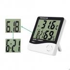 Для HTC-1 Высокая точность ЖК-Цифровой Термометр Гигрометр Закрытый Электронный Измеритель Температуры И Влажности Часы Метеостанции