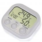 ЖК-Цифровой Измеритель Температуры И Влажности Датчик Термометр Гигрометр С Часами   Метеостанция