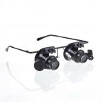в продаже увеличительное стекло лупа 20X глаз ювелирные часы ремонт лупы очки с 2 из светодиодов огни нью-лупа микроскоп