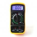 Xl830l цифровой мультиметр портативные AC / DC напряжение постоянного тока амперметр сопротивление тестер-синий подсветка