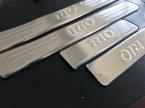 из нержавеющей стали накладка на порог с 4 шт./компл. автоаксессуары для KIA RIO седан хэтчбек 2006 -