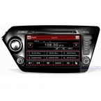 """8 """"емкостный сенсорный экран 2din dvd-плеер автомобиля gps navi для kia K2 (2011-15) РИО поддержки управления на рулевом колесе свободной камеры"""