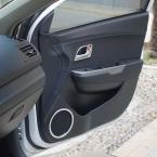 Абс наклейки аудио круг прикреплены дверей динамиков и внутренней ручки крышки для Kia RIO K2 2011