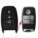 Оболочка ключа брелок для   Kia Rio Sorento Cerato K3 Forte Rio5 Optima Smart с тремя кнопками дистанционного управления