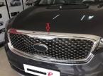 1 шт. ABS хром с передним расположением двигателя машина крышка гуд гвардии наклейки стайлинга автомобилей для Kia Sorento