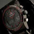 новинка мужчин часы полная стали мужские кварцевые час аналоговый цифровой из светодиодов часы спортивные военные наручные часы
