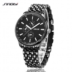 Sinobi часы мужчины кварц - люксовый бренд полный стали мужские часы водонепроницаемые часы мужчины Relogio Masculino мода reloj хомбре