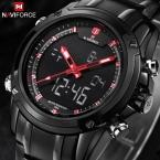 Топ мужчины часы люксовый бренд мужские кварцевые час аналоговые цифровой из светодиодов спортивные часы мужчины военный наручные часы Relogio Masculino
