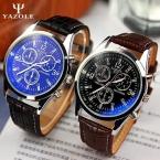 список Yazole мужские часы люксовый бренд часы кварцевые часы мода кожаные ремни часы дешевые спорт наручные часы relogio мужской