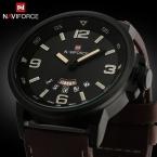 Роскошный Бренд моды Бизнес Кварцевые часы Мужчины спортивные Часы Военные Часы Мужчины Кориум Кожаный Ремешок армия наручные часы
