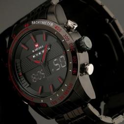 Цифровой из светодиодов часы мужские спортивные часы люксовый бренд полный стали мода кварцевый механизм мужчины военный наручные мужские часы Relogio