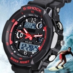 мужские Кварцевые Цифровые Часы Мужчины Спортивные Часы Relógio Masculino S Шок Relojes LED Военная Водонепроницаемый Наручные Часы $5 К
