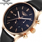 Часы мужчины люксовый бренд GUANQIN новинка мужская большой набор дизайнер кварцевые часы наручные часы relogio masculino relojes