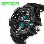 Санда мода часы Men г стиль водонепроницаемый из светодиодов спортивные военные часы шок мужские кварцевый электронные часы relogio masculino