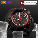 Мода Спорта Super Cool мужские Кварцевые Цифровые Часы Мужчины Спортивные Часы SKMEI Люксовый Бренд LED Военная Водонепроницаемые Наручные Часы