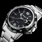 Часы мужчины люксовый бренд Бизнес Часы кварцевые спорт парни весь стали наручные часы погружения 30 м Случайные часы relogio masculino
