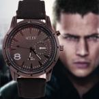 Мода Мужчины Кварцевые Часы Мужчины Luxury Brand мужская Повседневная Часы Кожа Мужчины Бизнес Военные Наручные Часы Relogio Masculino