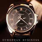 YAZOLE Световой Мужские Часы Класса Люкс Лучший Бренд бизнес Мужчины Часы Кварцевые Наручные Часы Досуга Моды Кожа Кварцевые Часы Relogios