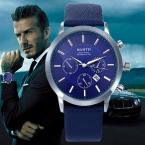 Мужские роскошные брендовые наручные часы Повседневный Армейские Кварцевые Спортивные С кожаным ремешком