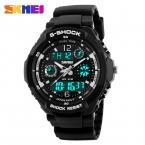 S - шок мужские военные часы для мужчин спортивные часы SKMEI роскошных марка кварцевый и из светодиодов цифровой на открытом воздухе водонепроницаемые часы