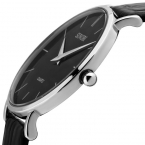 Супер тонкий кварц свободного покроя наручные часы бизнес япония SINOBI бренд натуральной кожи аналоговые кварцевые часы мужские  relojes хомбре