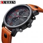 Нью-curren мужские спортивные кварцевые часы мужские часы лучший бренд роскошные кожаные наручные часы Relogio Masculino мужчины валютам часы