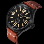 Горячая мода мужчины спортивные часы мужские кварцевые час дата часы человек кожаный ремешок армия армия водонепроницаемые наручные часы мужской Relogio