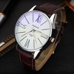YAZOLE luxury brand кварцевые часы Повседневная Мода Кожа часы reloj masculino мужчины часы бесплатная доставка Спорт Наручные Часы