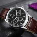 Мода свободного покроя мужские часы люксовый бренд высокое качество кожа бизнес кварцевые часы мужчины водонепроницаемый наручные часы Relogios Masculino