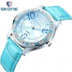 Часы женские SKONE бренд класса люкс мода свободного покроя кварцевые часы кожа спорт леди relojes женские аксессуары женщин наручные часы девочка платье 9243