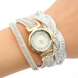 Новые Прибытия Роскошный Горный Хрусталь Браслет Женские Часы Дамы Кварцевые Часы Женщины Наручные Часы Relogio Feminino Reloj Mujer Montre Femme