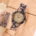 Новинка часы роскошные букеты печатных женева часы женщины свободного покроя кварцевые часы элегантный популярные женское платье наручные часы Relojes