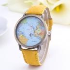 Карта Мира Часы Самолет Часы Женщины Мужчины Джинсовой Ткани Часы Кварцевые Relojes Mujer Relogio Feminino Подарков бесплатная Доставка