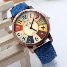 Горячая распродажа женщины наручные часы   стиль мода свободного покроя часы унисекс женщины мужчины старинные Demic ткани кожи наручные часы Relojes