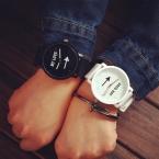 Мода  любителей пару часов женщины мужчины силиконовый ремешок группа отпечатано 13 14 кварцевые аналоговые наручные часы Relojs