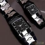 Бренд роскошный люкс черный классический парные часы кварцевые полное нержавеющая сталь наручные часы предметы часы мужские смотреть женщины часы наручные часы женские часы женские наручные