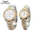 новинка GUANQIN известных женщин мужчины кварцевые часы платье наручные часы мода свободного покроя пару часов для любовника