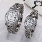 TGJW683 Световой пару часов часы с календарем японский кварцевый movment наручные часы для мужчин женщин