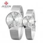 Крышей мужские женские наручные часы юлий кварцевых часов лучший мода бизнес браслет стали любителя пара подарок JA577