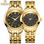 Пару часов люксовый бренд KINGSKY новинка свободного покроя женские часы кварцевые наручные золотые часы мужчин Reloj Mujer Relogio Feminino