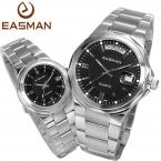 Easman известных марок 1 пара день дата нержавеющая сталь  водонепроницаемые любовник кварцевые часы для любителей Laides и мужские наручные часы любовник часы