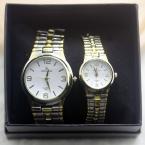 дизайн золото богатых моды роскошь искушение нержавеющей стали мужчин и женщин любителей смотреть пару часы