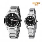 новый Eyki мужчины женщины бизнес золотые часы из нержавеющей стали наручных часов люксовый бренд пару часов с календарем montre роковой